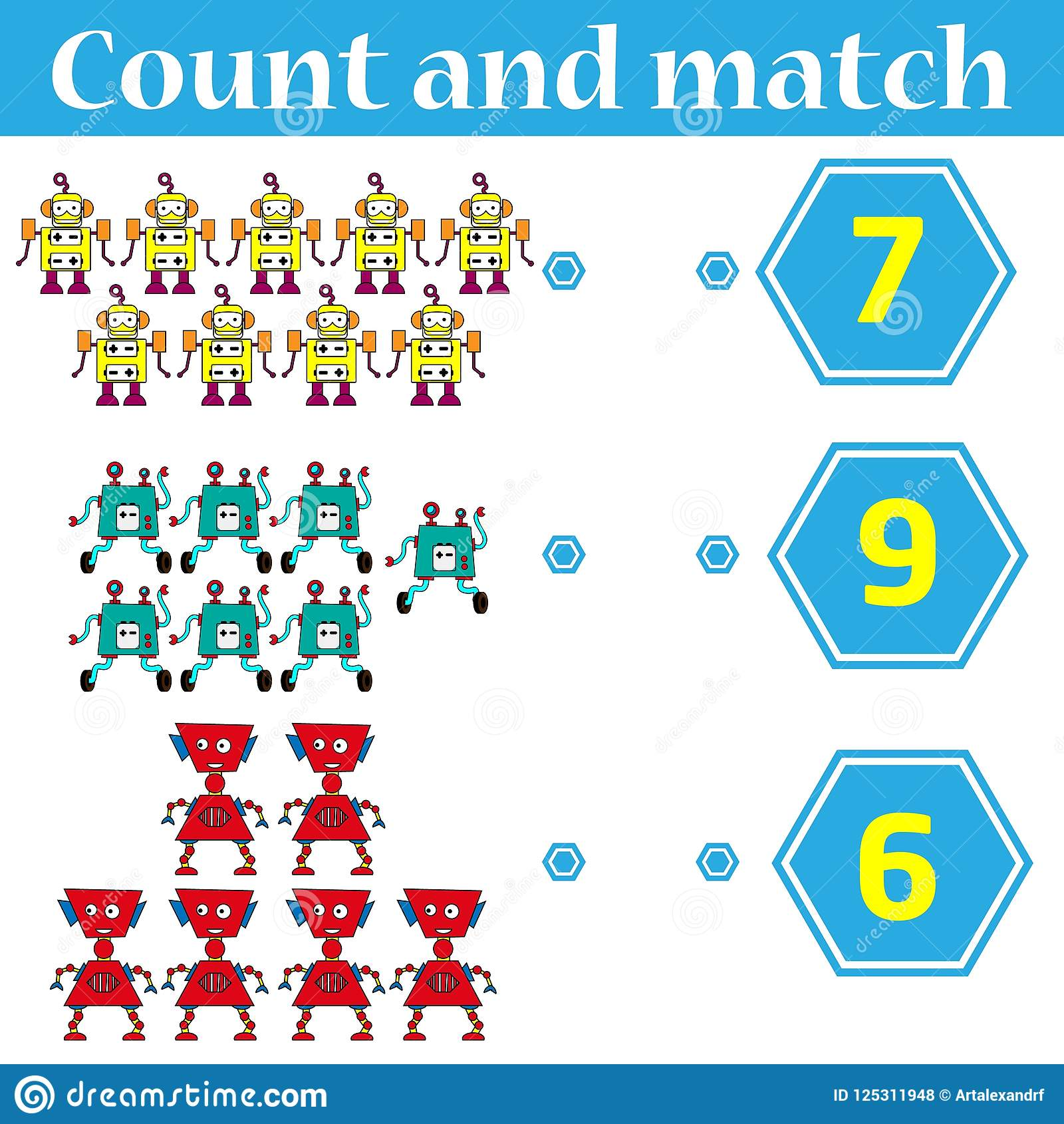 Counting Game For Preschool Kids Educational And