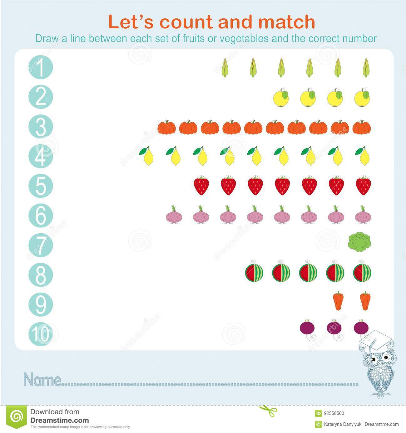 Counting And Matching Educational Games Kids Kids