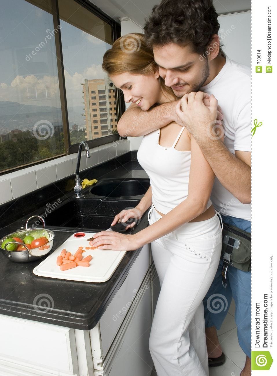 Couple Cooking Stock Images Image 783814