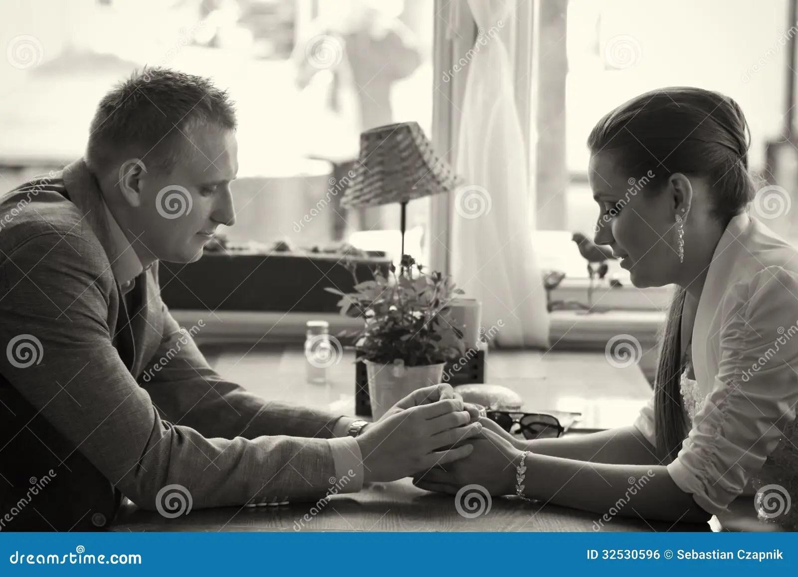 Couple Having Conversation Stock Photo Image Of People