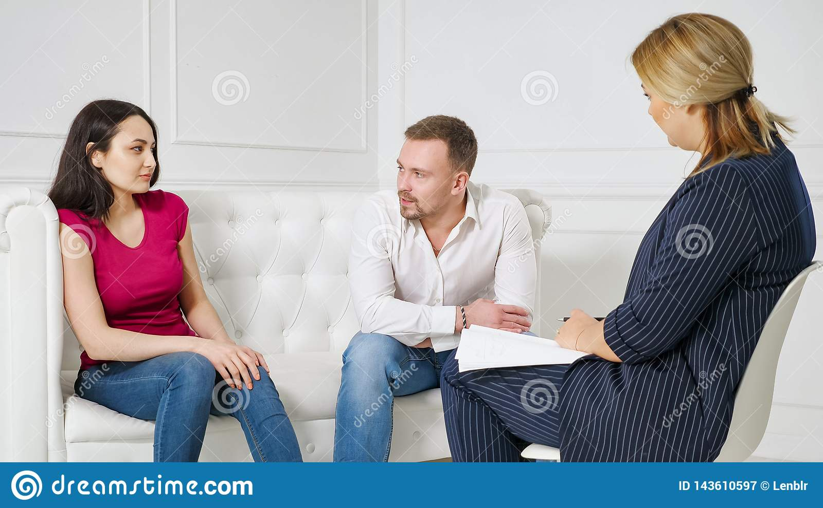 Family Marriage Counseling Therapy Session Concept Stock