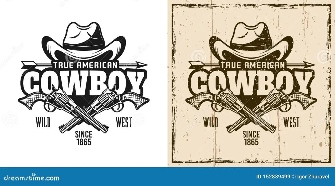 Download Cowboy Hat And Crossed Pistols Vector Emblem Stock Vector ...