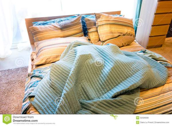 Cozy Bed Stock Photo - Image: 32326930