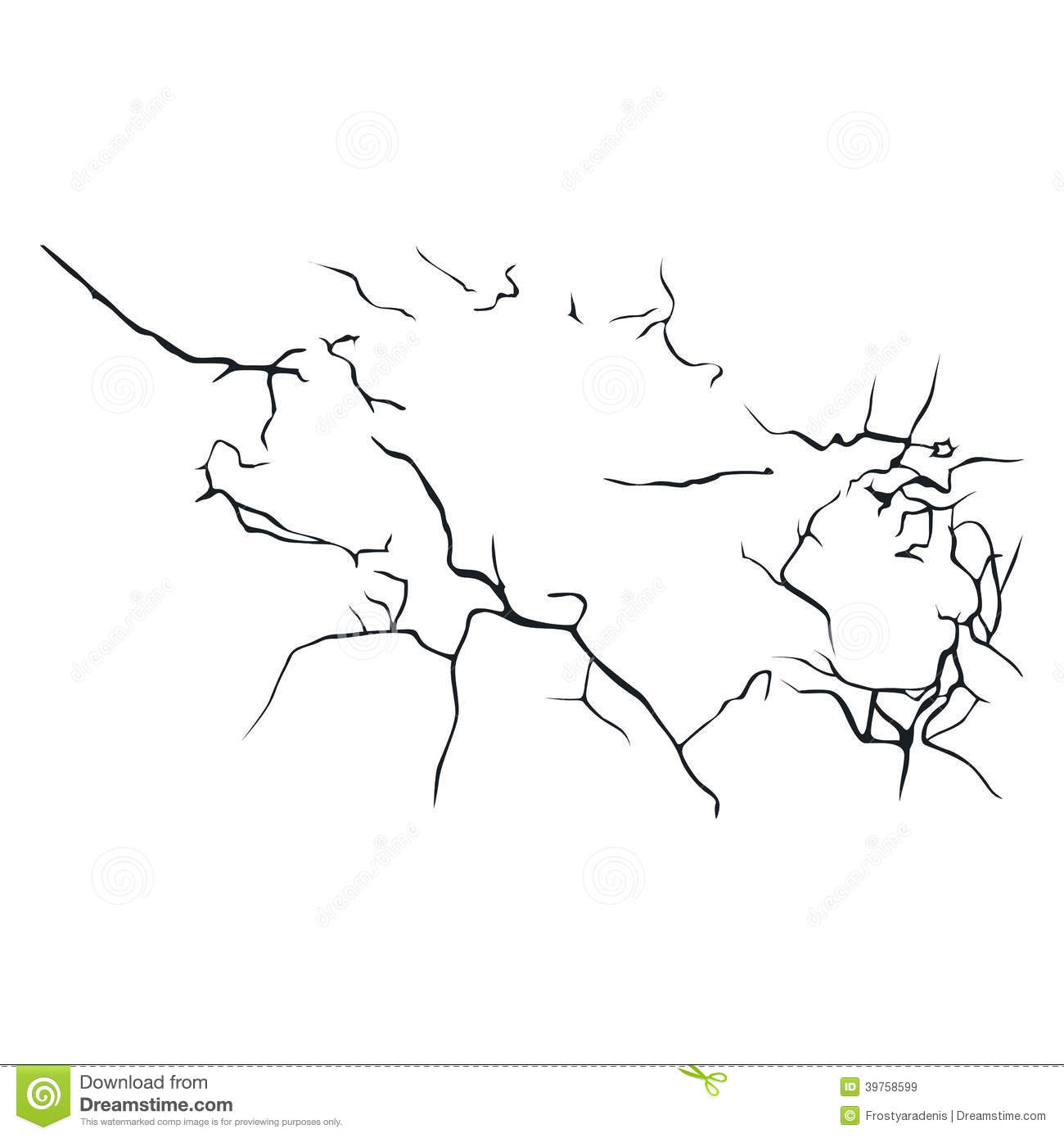 Crack Stock Vector