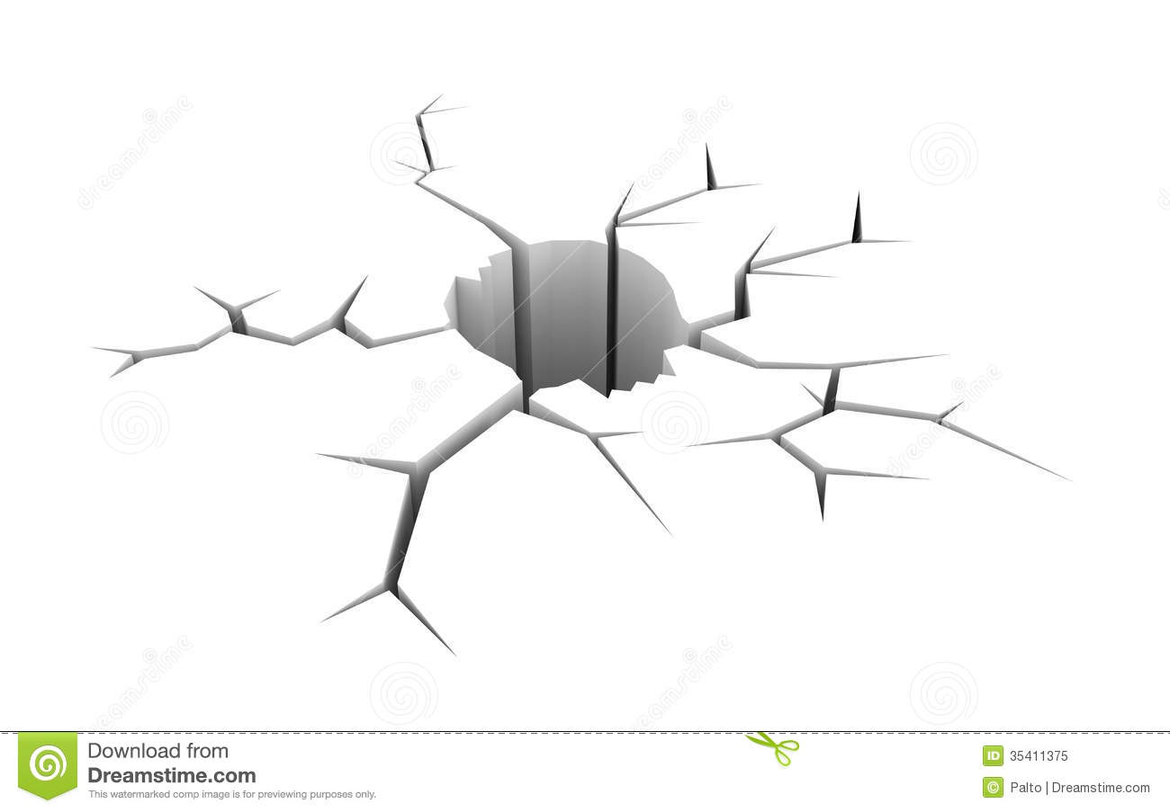 Cracked Ground In The Form Of Skull Royalty Free Stock