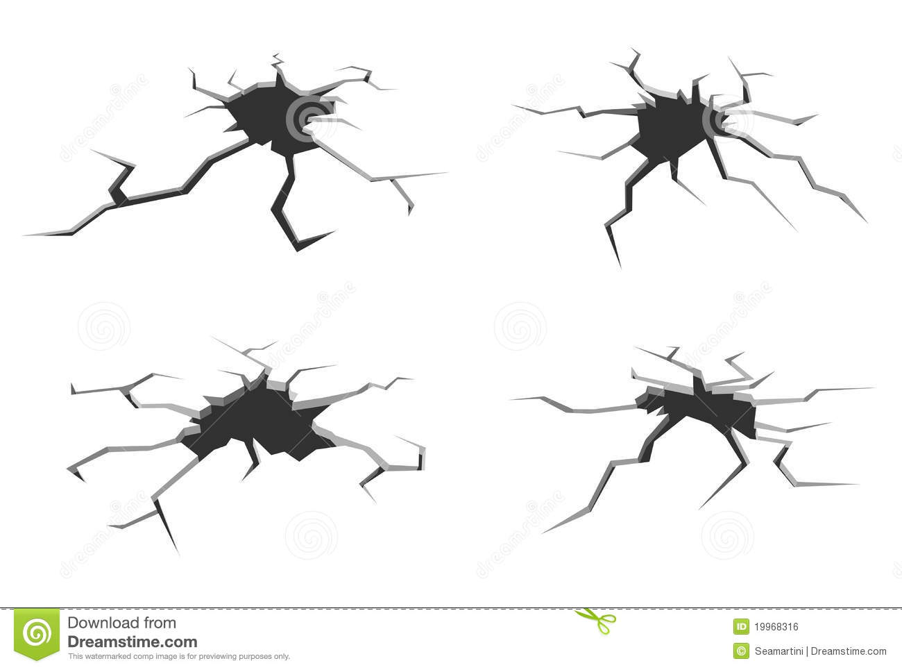 Cracks In Ground Stock Vector Image Of Dirty Environment