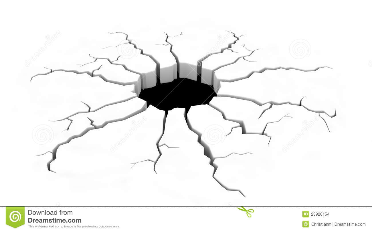 Cracks On The Ground Stock Illustration Illustration Of