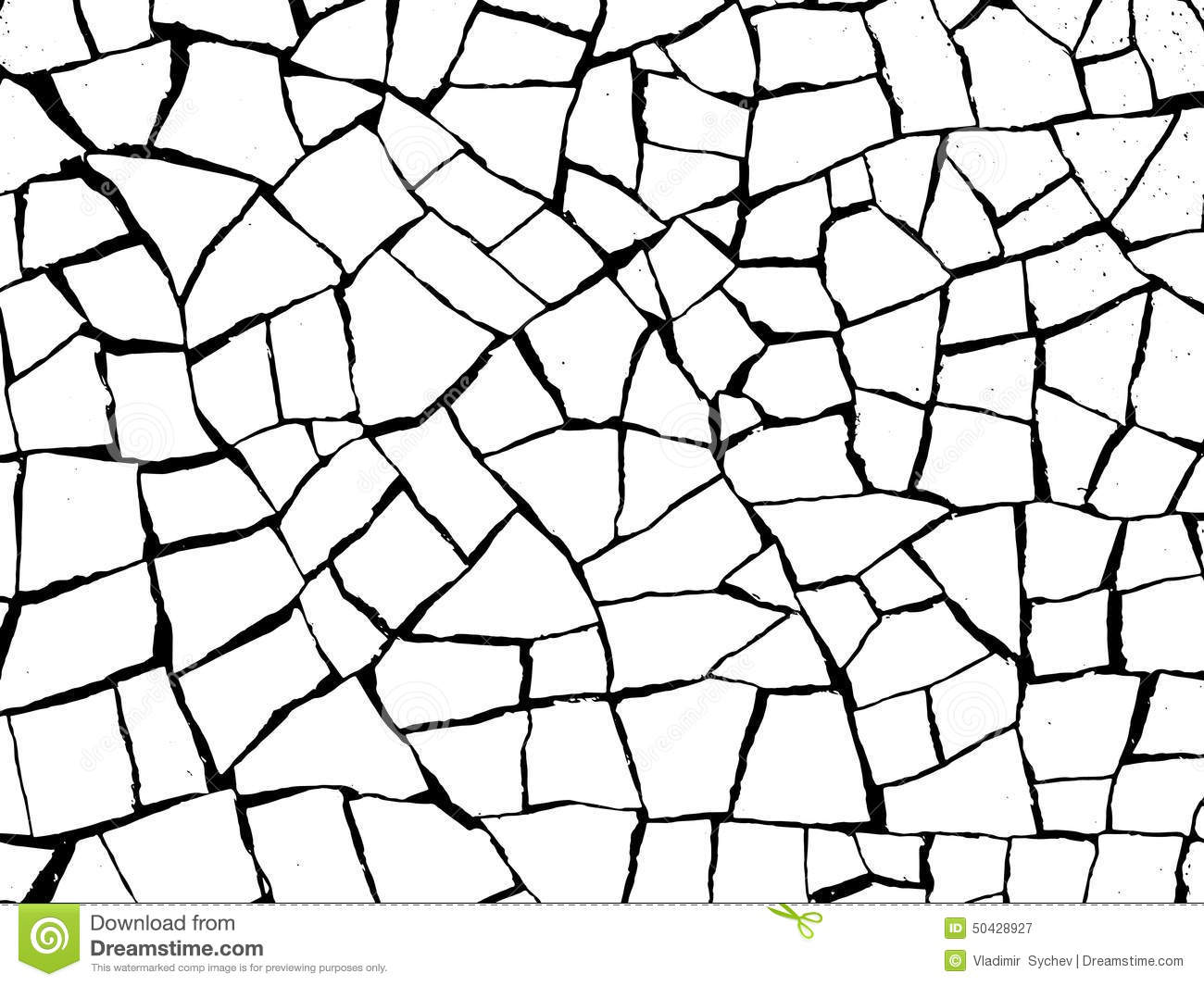 Cracks Splinters Stock Vector