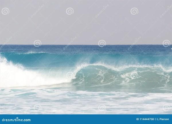 Crashing Waves Along The South Florida Shoreline. Stock ...
