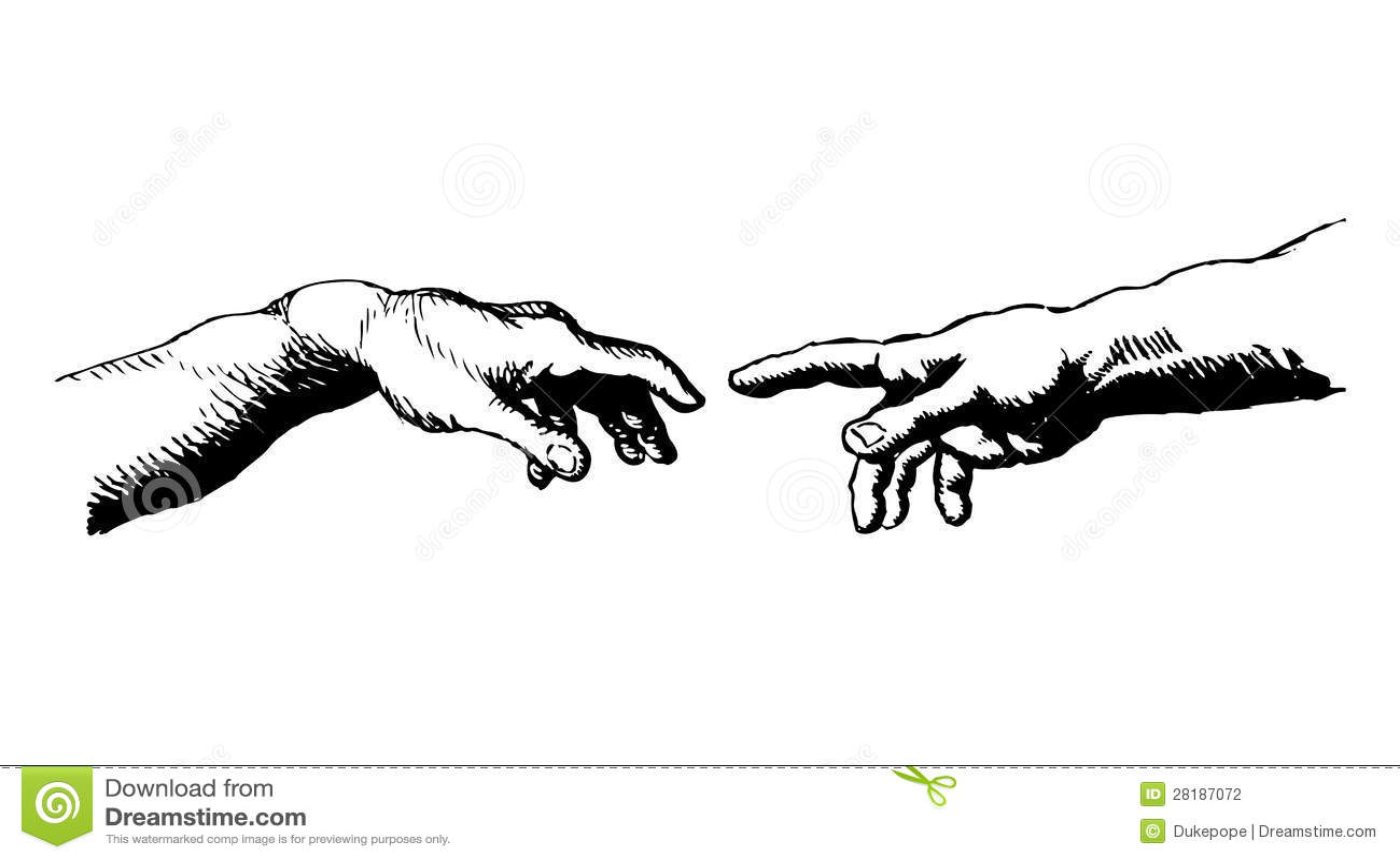 Creacion De Adan Ilustracion Del Vector Ilustracion De