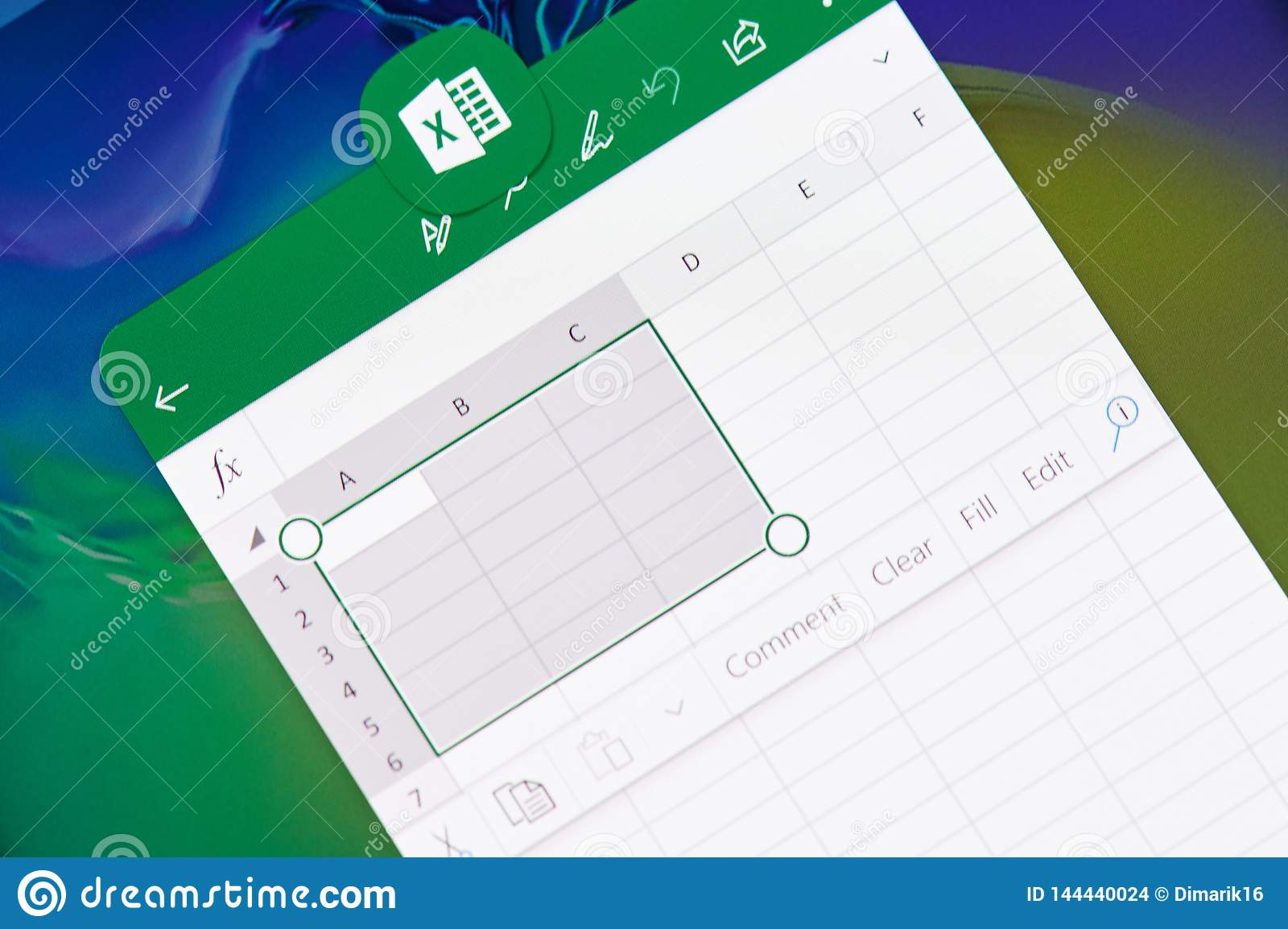 Creating Document In Microsoft Office Excel Application