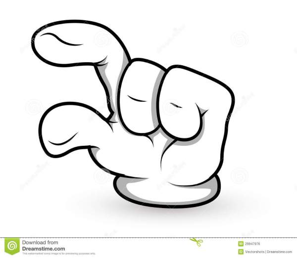 Cartoon Hand - Finger Pointing - Vector Illustration ...