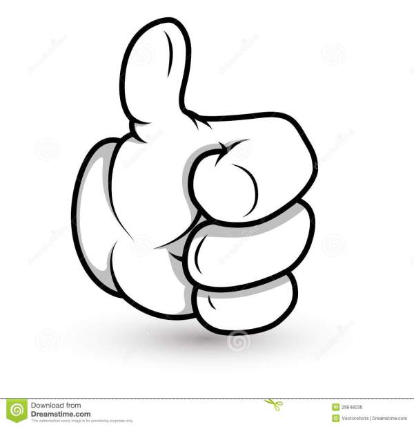 Cartoon Hand - Thumbs Up- Vector Illustration Stock Vector ...