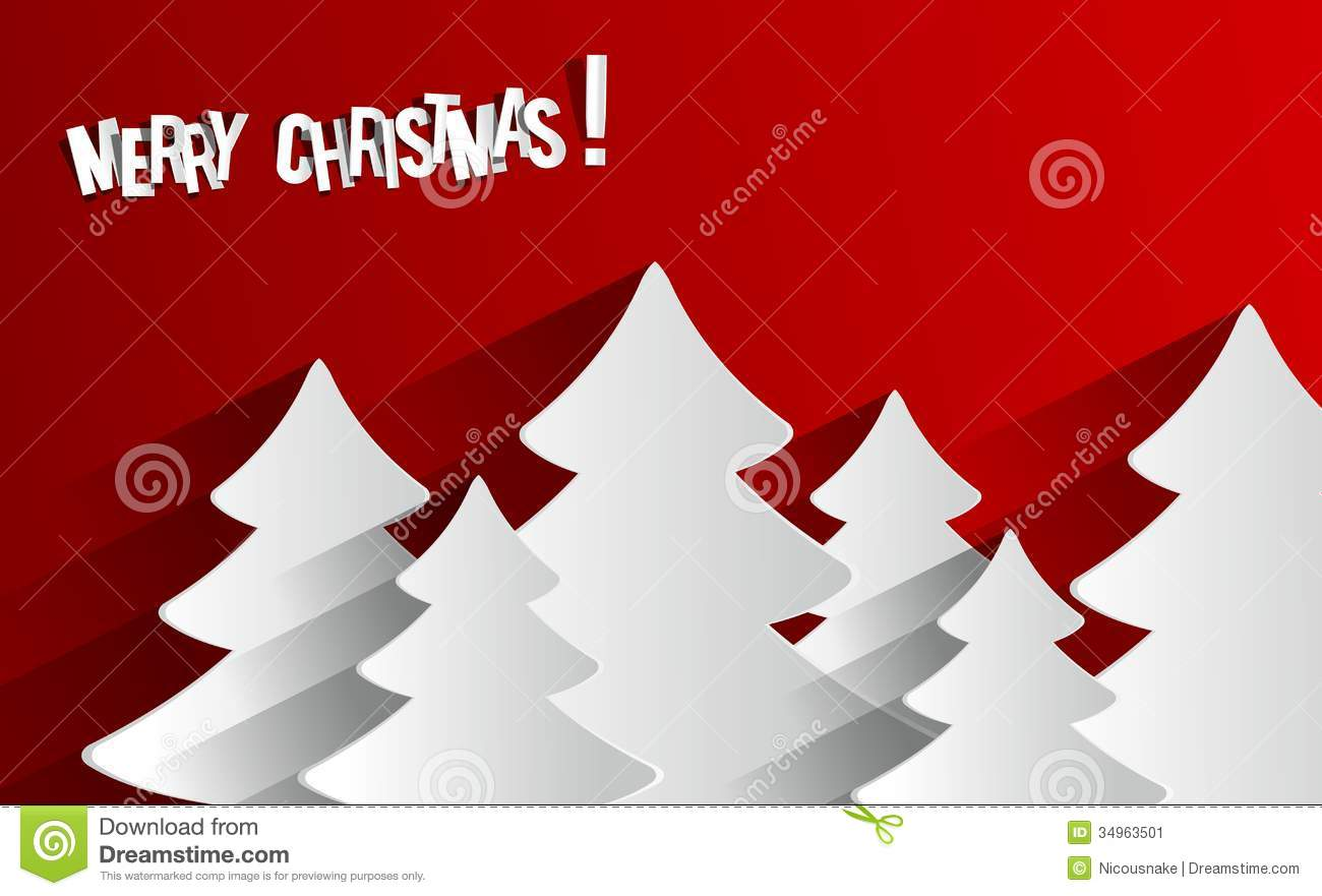 Creative Abstract Merry Christmas Card Stock Image Image
