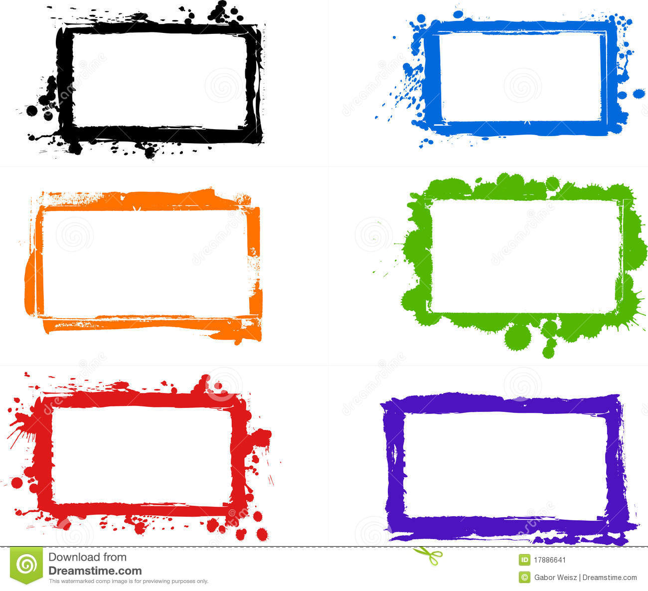 Creative Grungy Frames Stock Vector Illustration Of