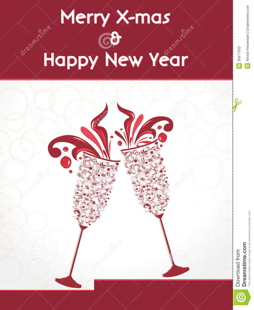 champagne party new year poster