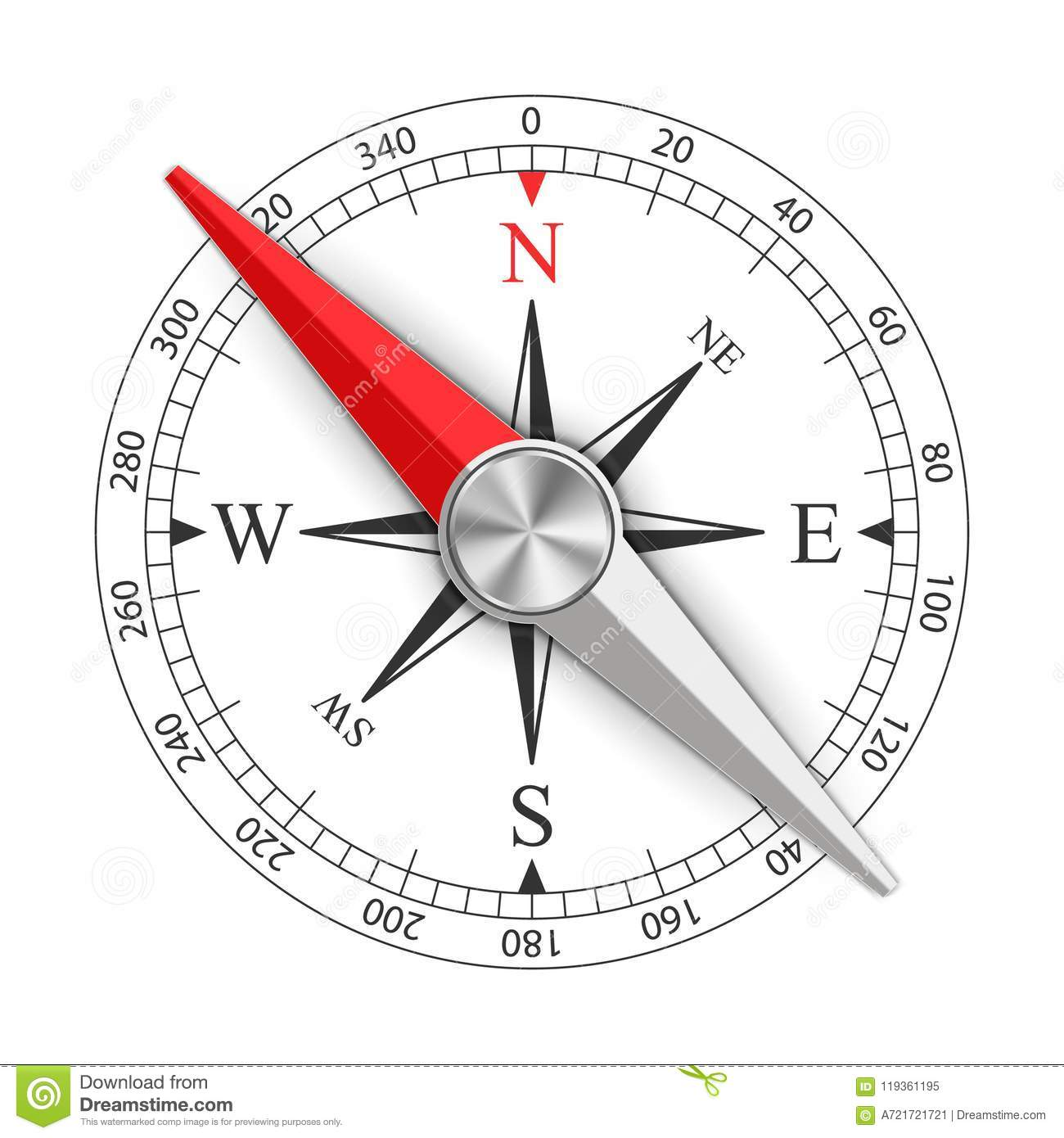 Creative Illustration Of Wind Rose Magnetic Compass
