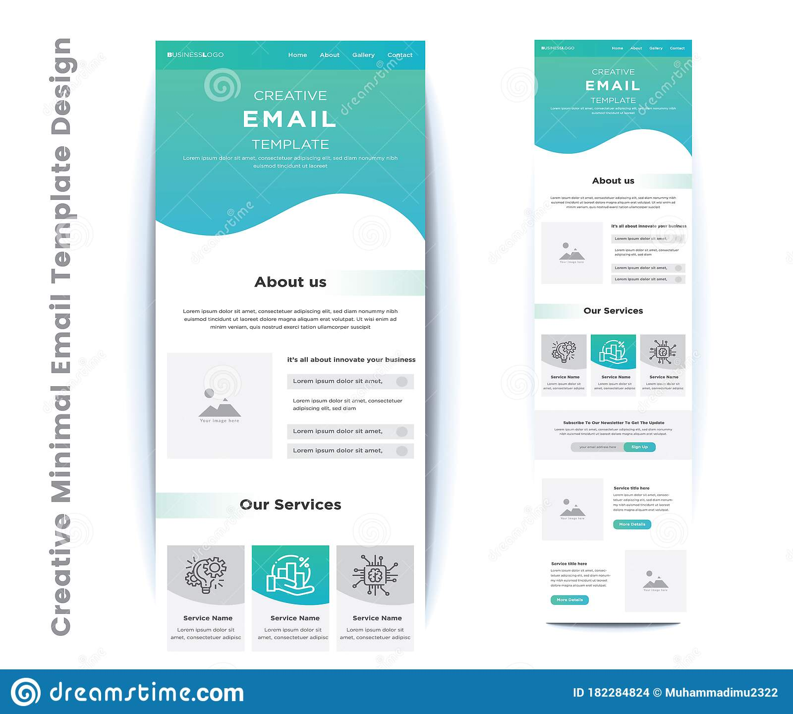 Spots with this travel newsletter template. Creative Minimal Email Template Design Stock Vector Illustration Of Business Campaign 182284824