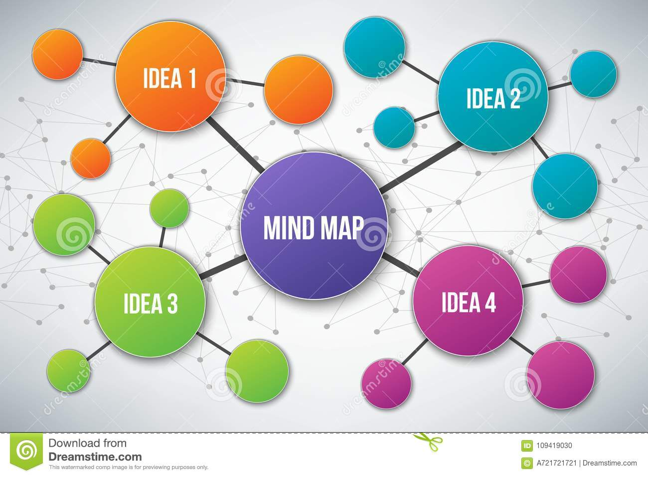 Flowchart Blank Mind Map Stock Illustrations 40