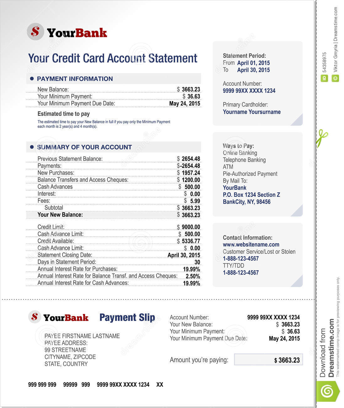 Security Bank Credit Card Online Billing Statement
