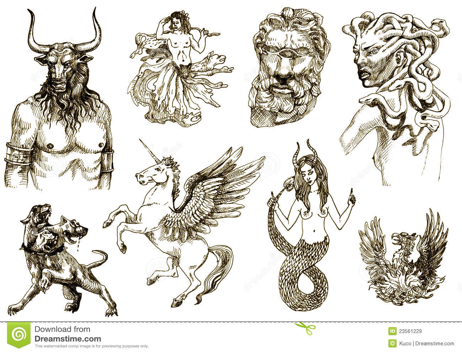 Criaturas Mystical Ii Ilustracao Do Vetor Ilustracao De