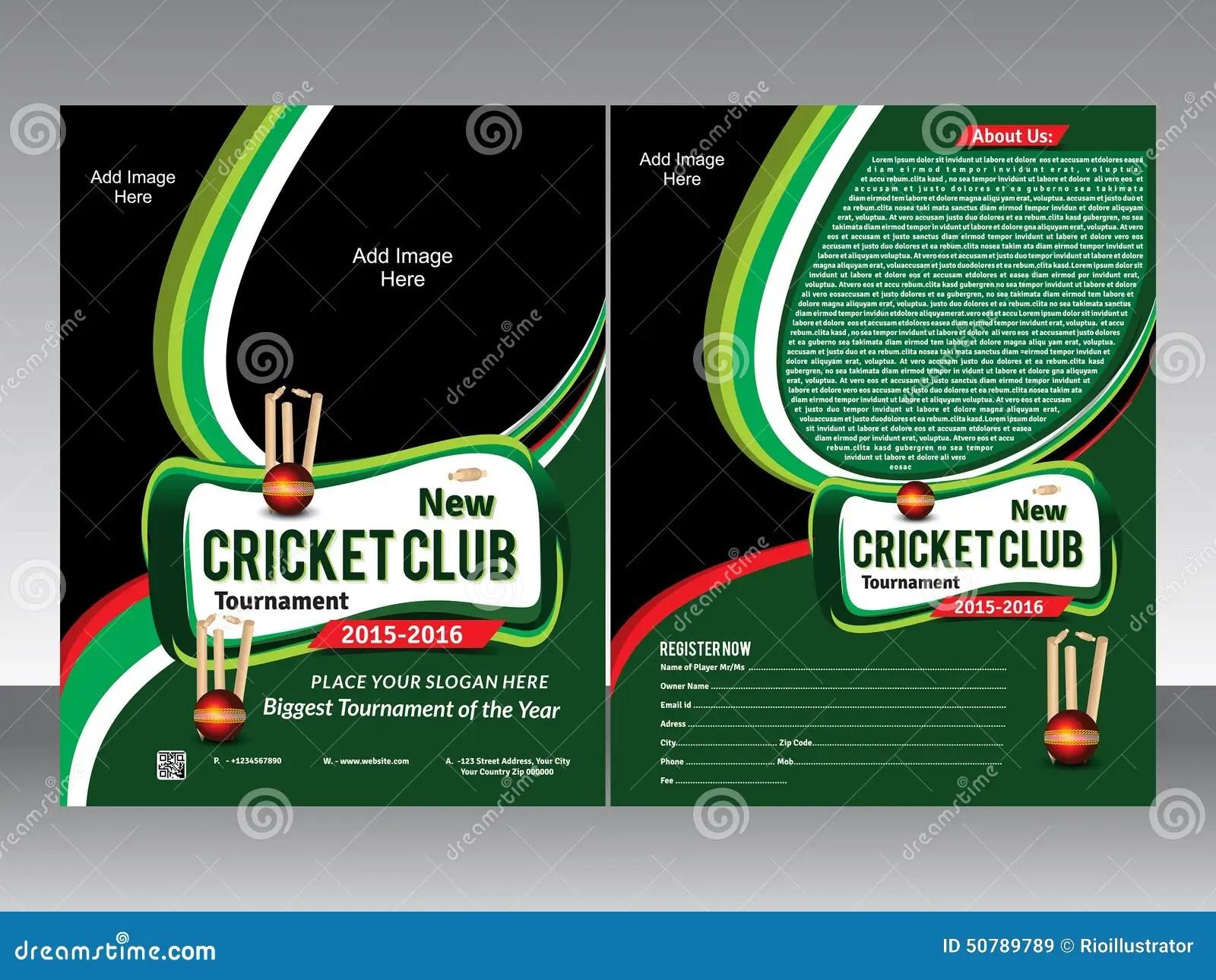 Cricket Flyer Template Stock Vector Image 50789789