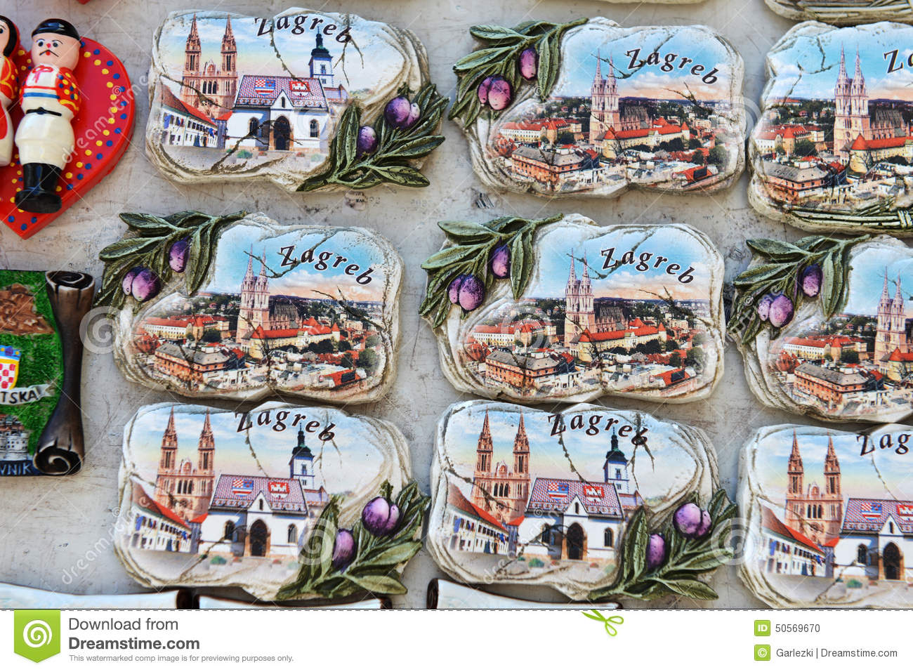 Croatian Souvenirs Stock Photo Image 50569670