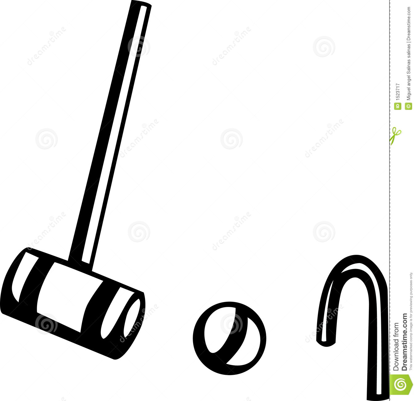 Croquet Game Vector Illustration Royalty Free Stock