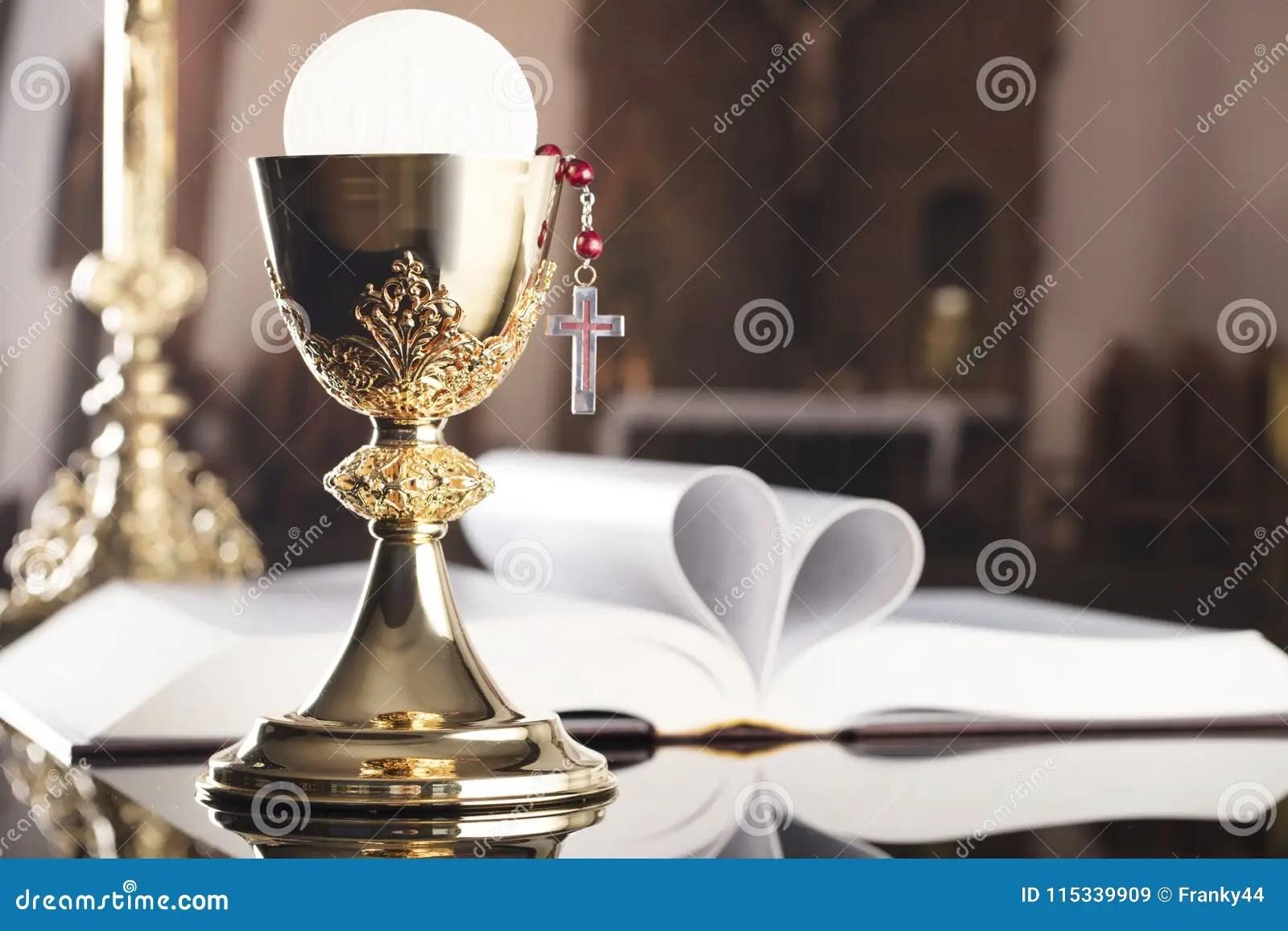 First Holy Communion Theme Catholic Concept Background