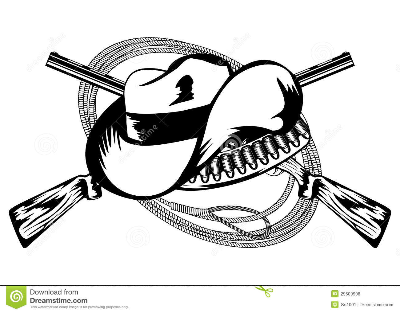 Crossed Rifles And Hat Stock Vector Illustration Of