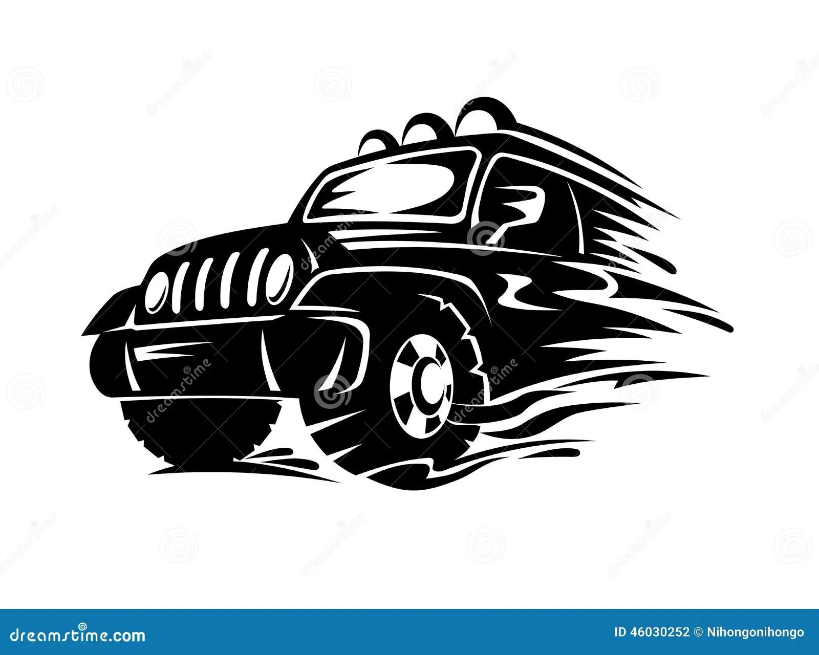 Crossover Car Stock Vector