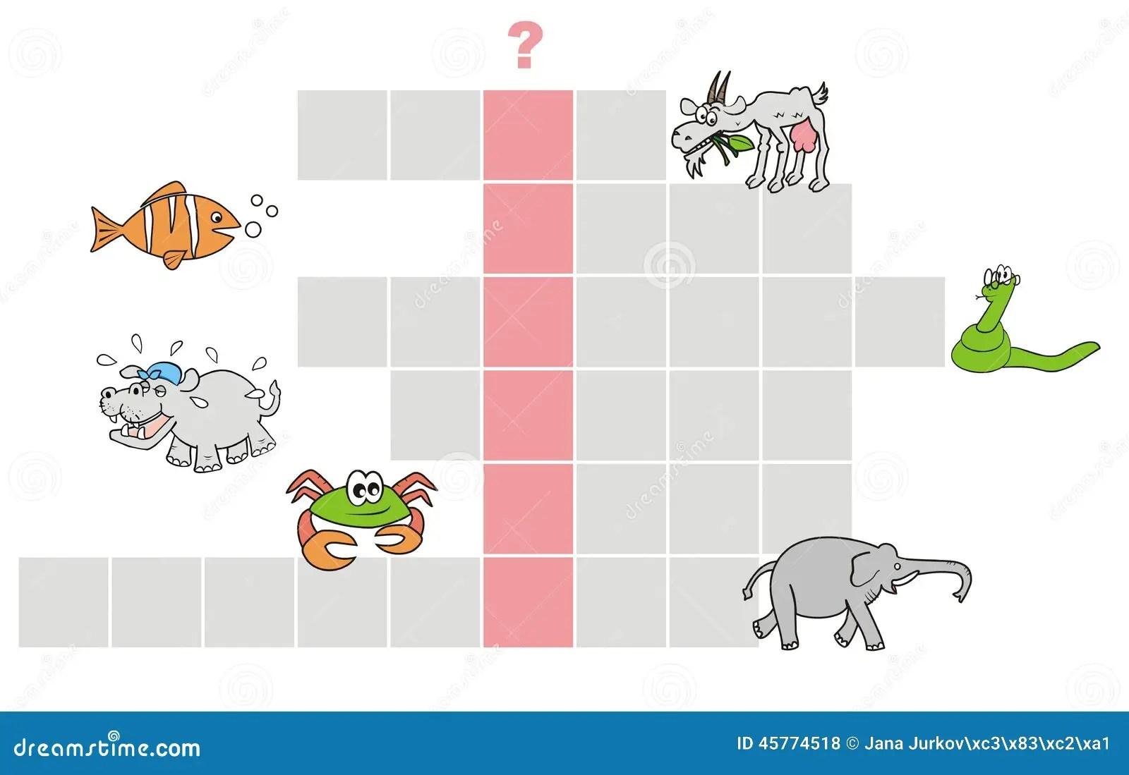 Animal Names Crossword Puzzle