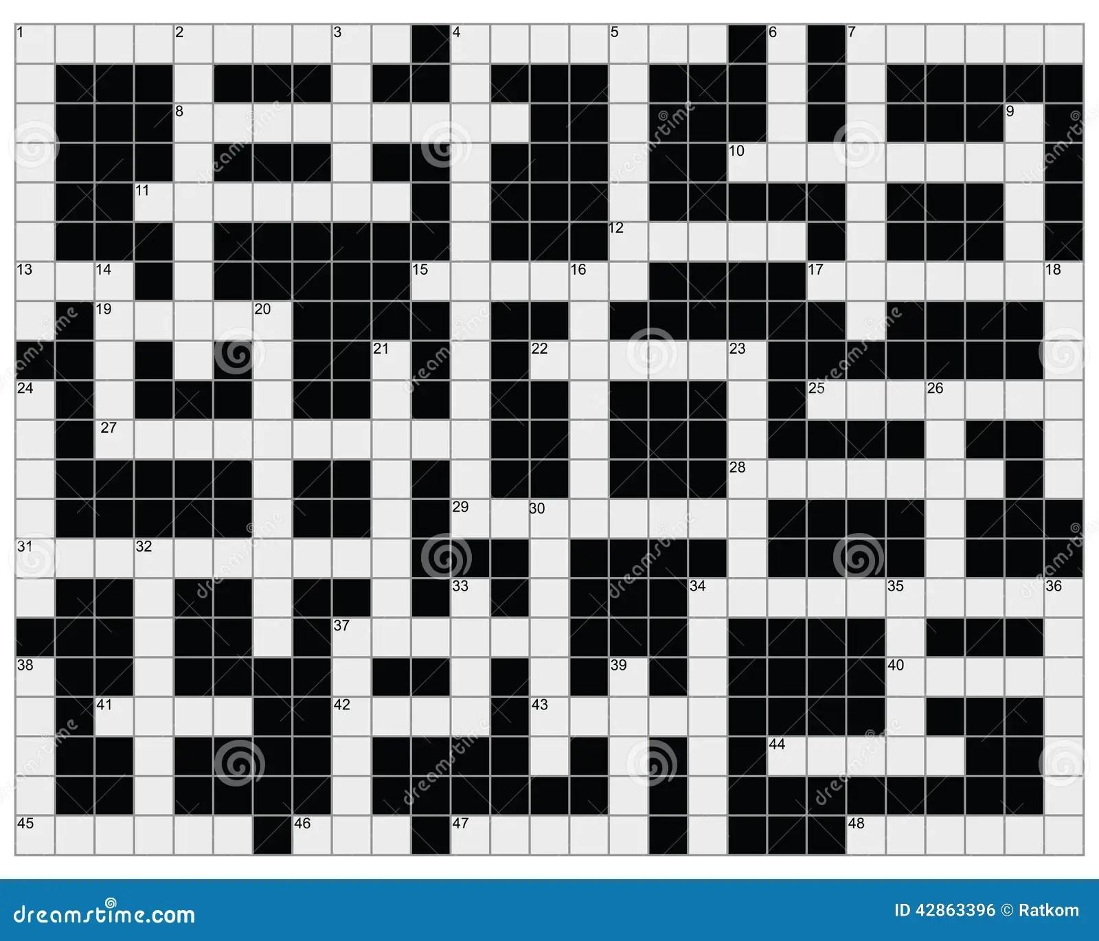 Crossword Puzzle Empty Crossword Puzzle Gallery   Jymba blank ...