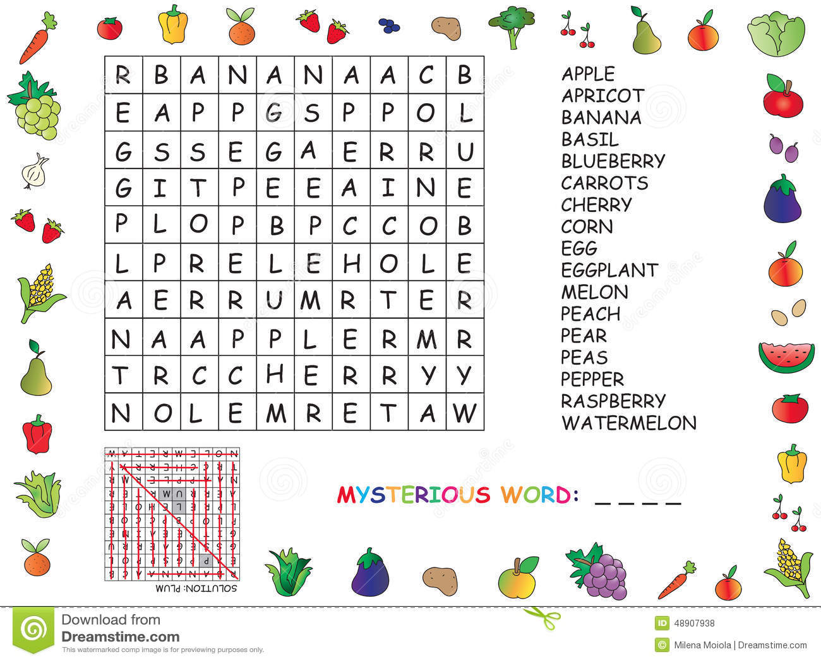 Crossword Stock Illustration Illustration Of Cartoon