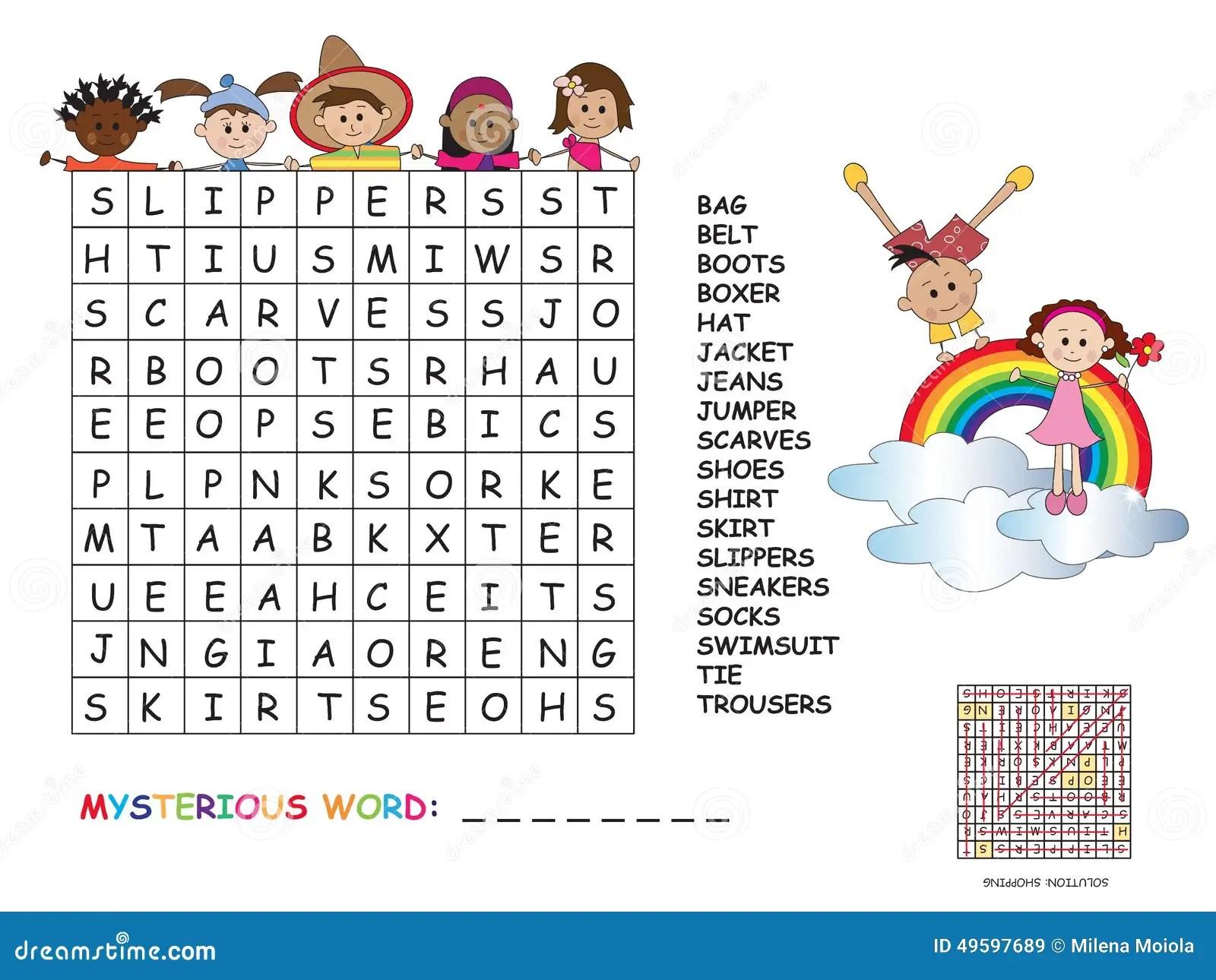 Crossword Stock Illustration