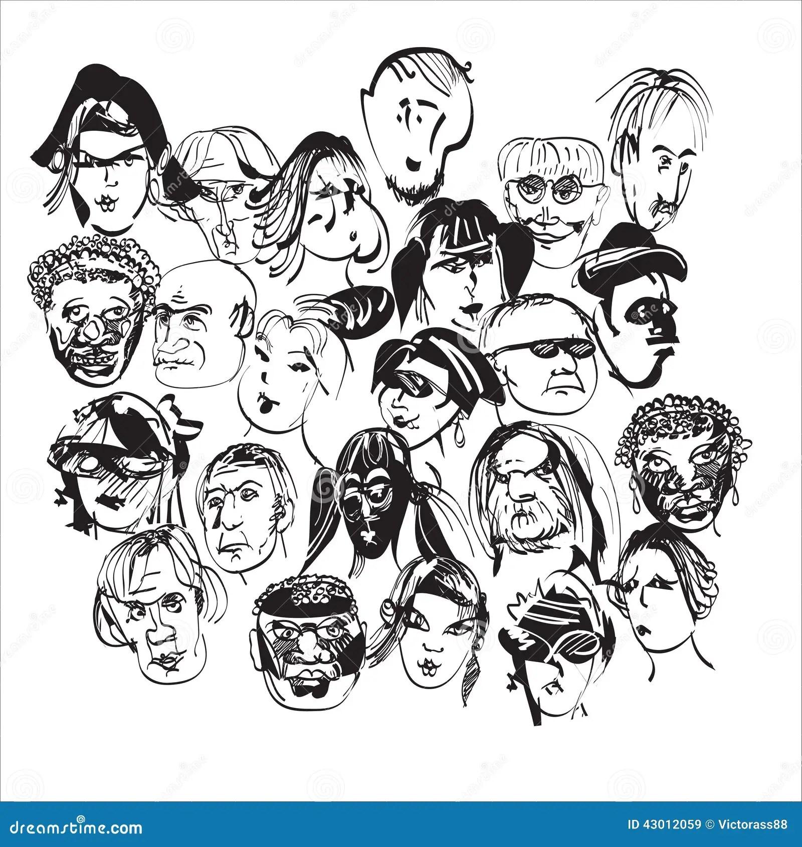 Crowd Stock Vector Illustration Of Urban Looking Queue