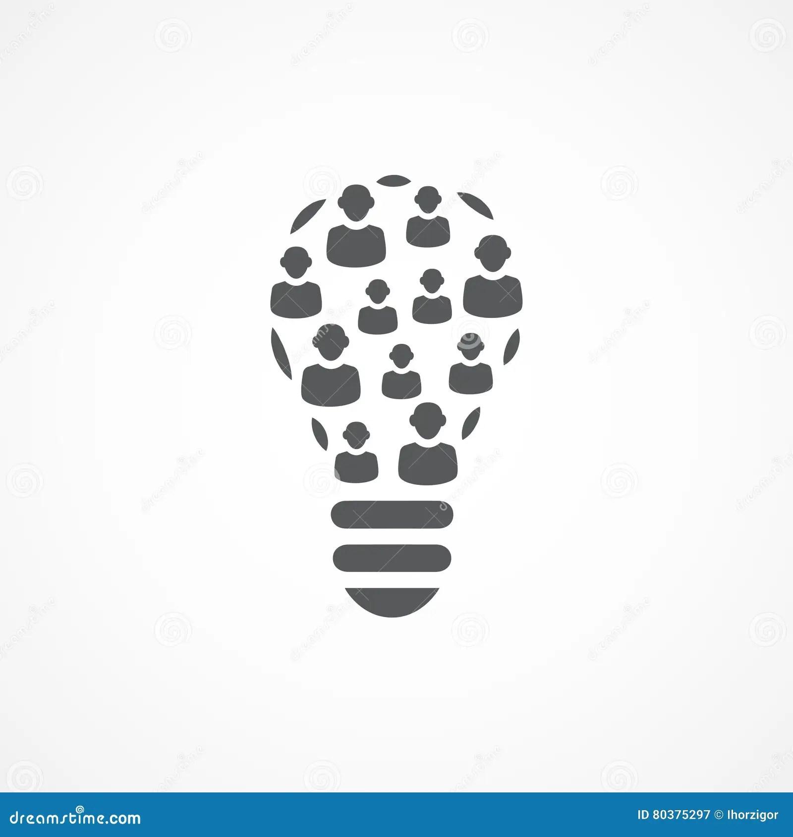Creativity Network Crowdsourcing Vector Illustration