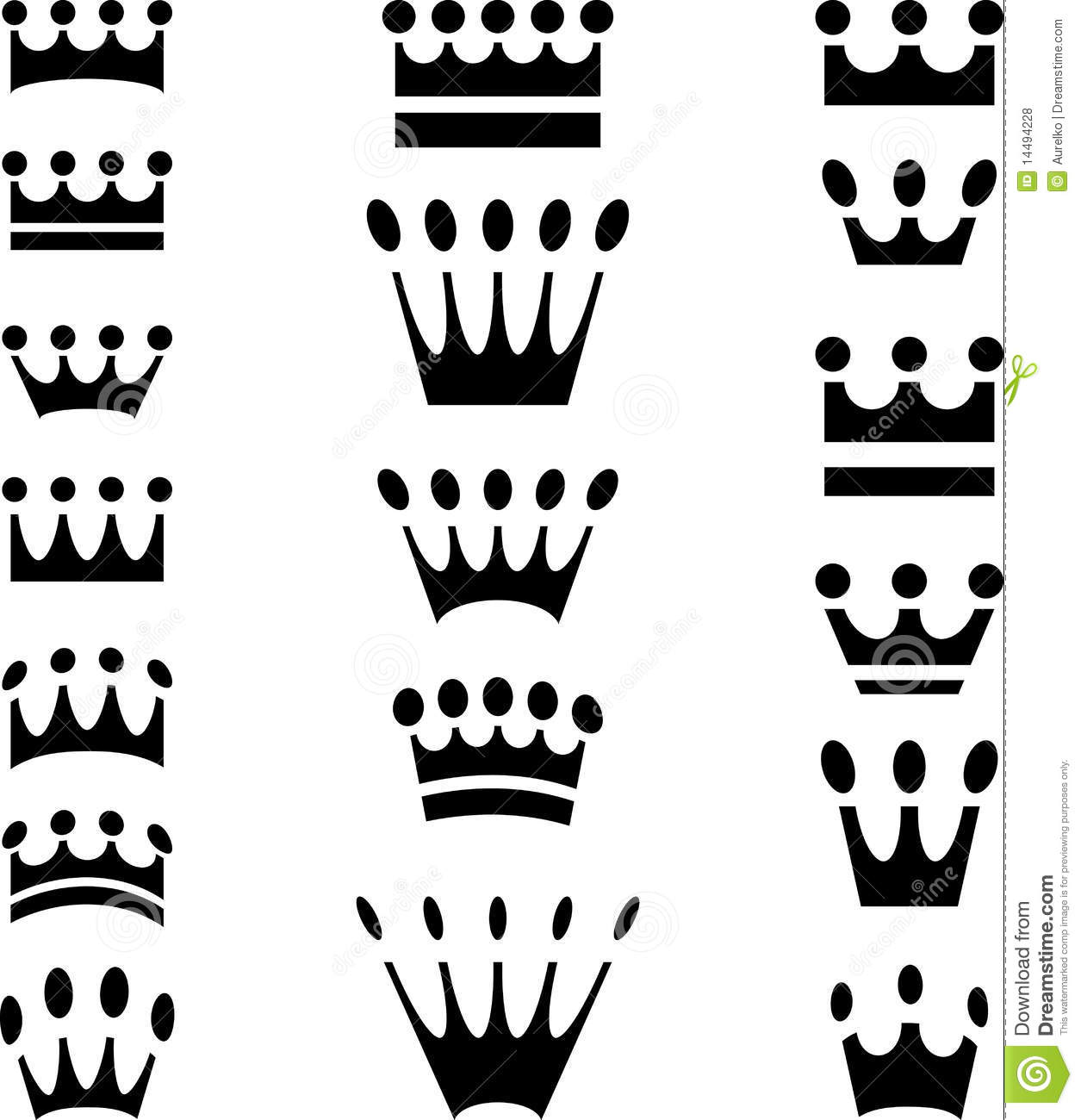 Crown Icons Simple Royalty Free Stock Photos