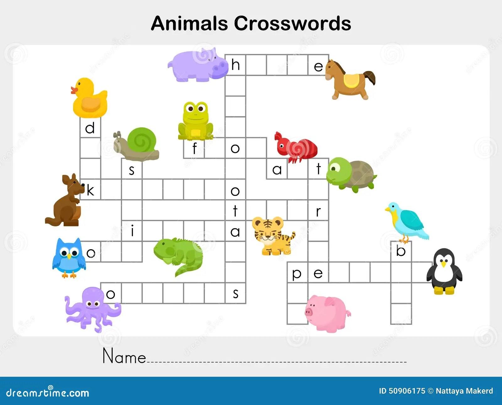 Crucigramas De Los Animales