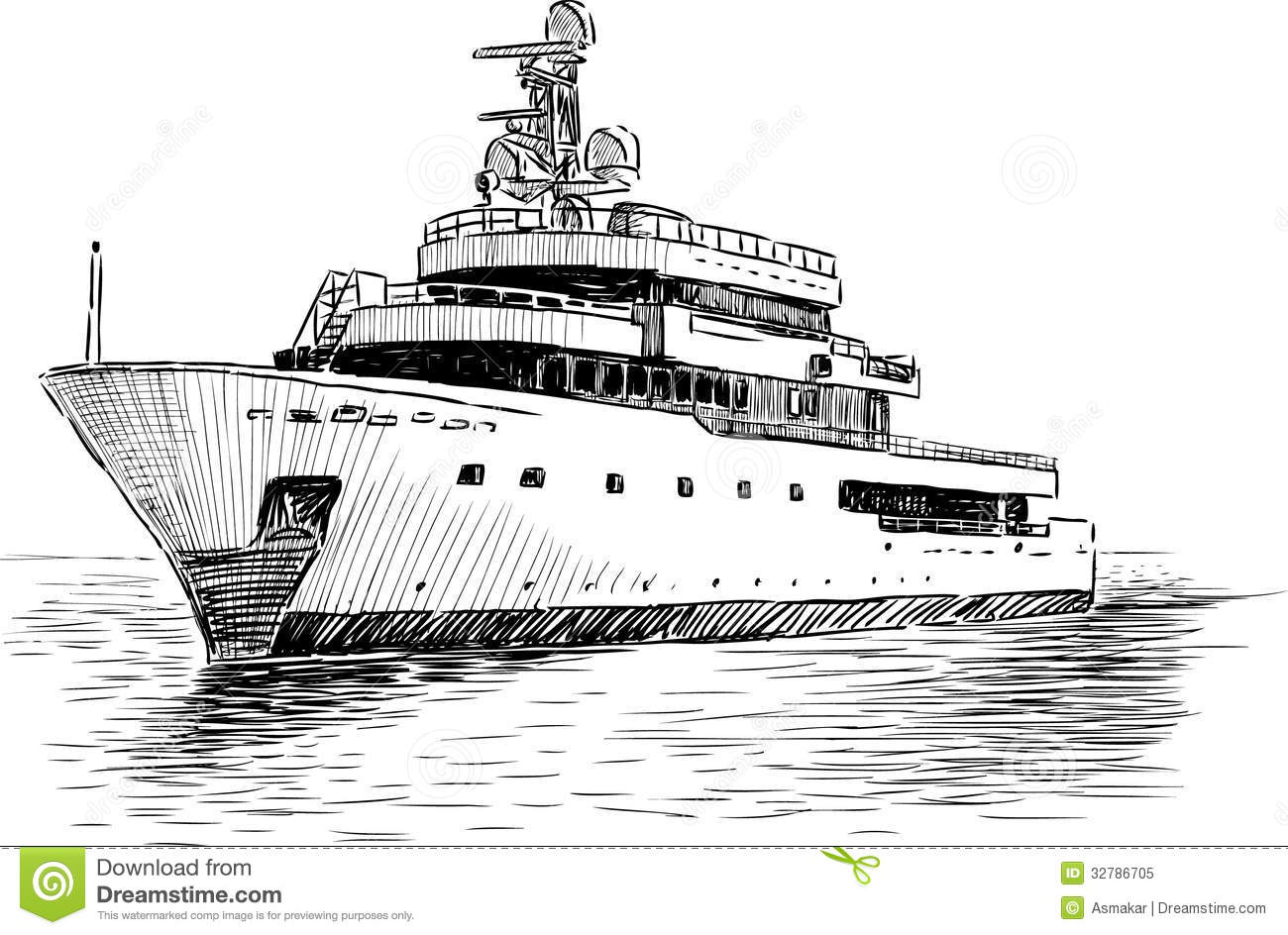 Cruise Yacht Stock Image Image Of Vacations Isolated