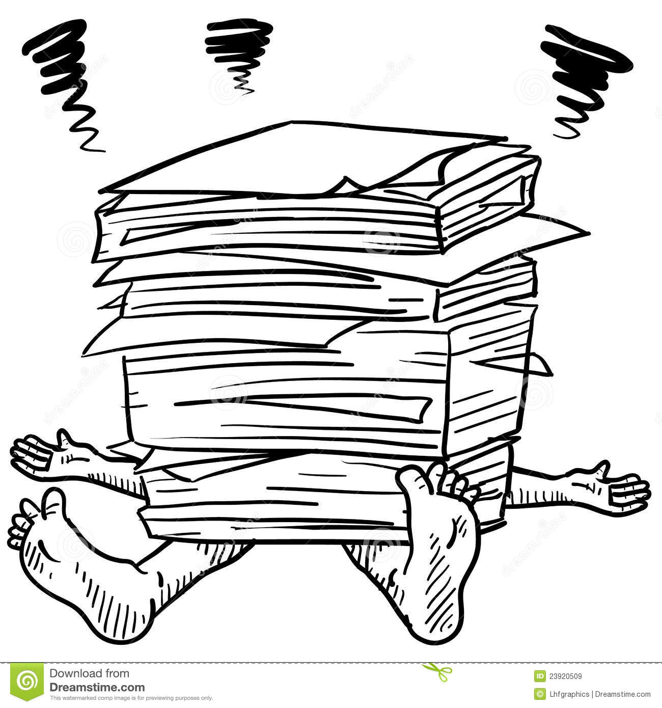 Crushed By Office Stress Vector Stock Vector