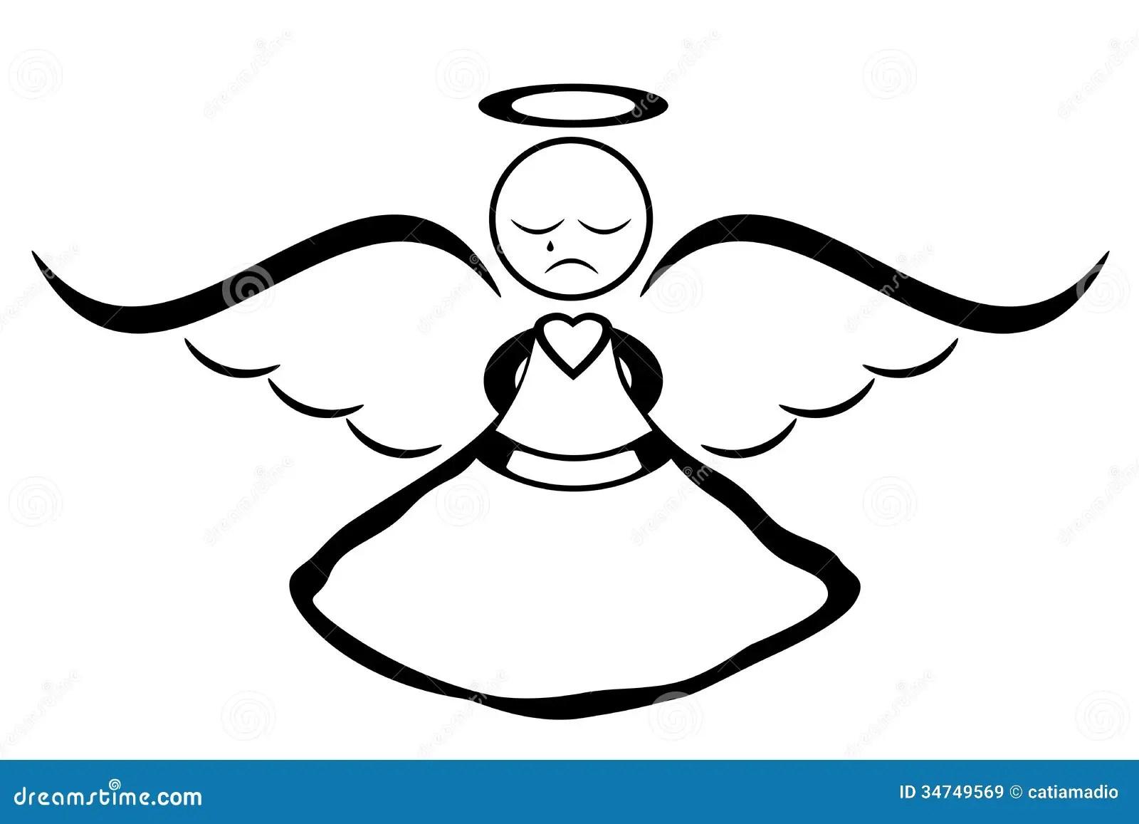 Crying Angel Stock Illustration Illustration Of Cute