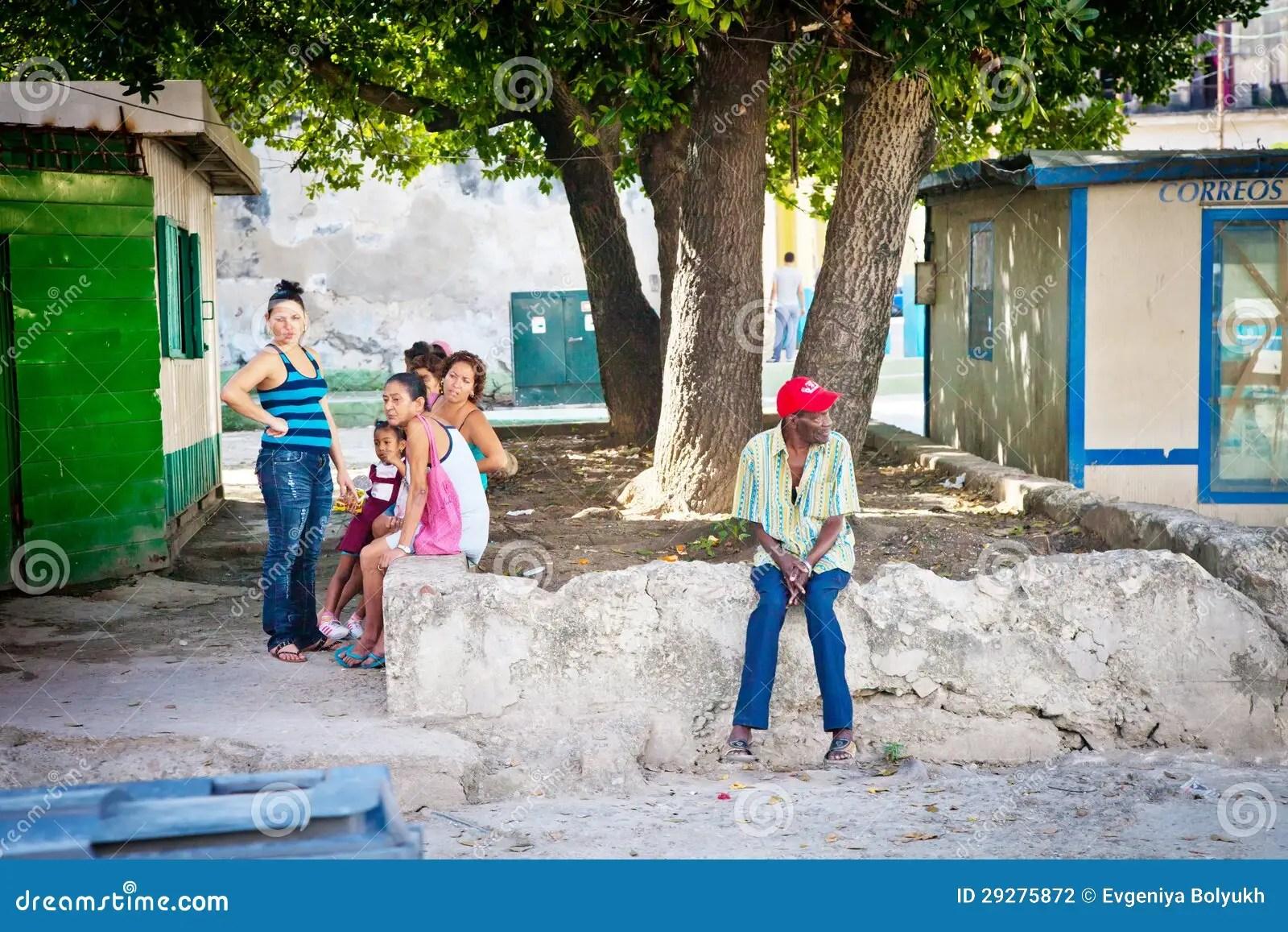 Cuban Native People On Streets Of Havana Editorial