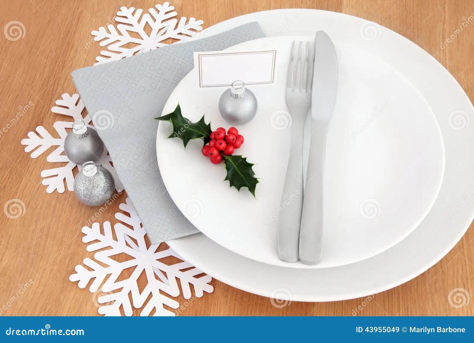 Cubierto De La Cena De La Navidad Foto De Archivo Imagen