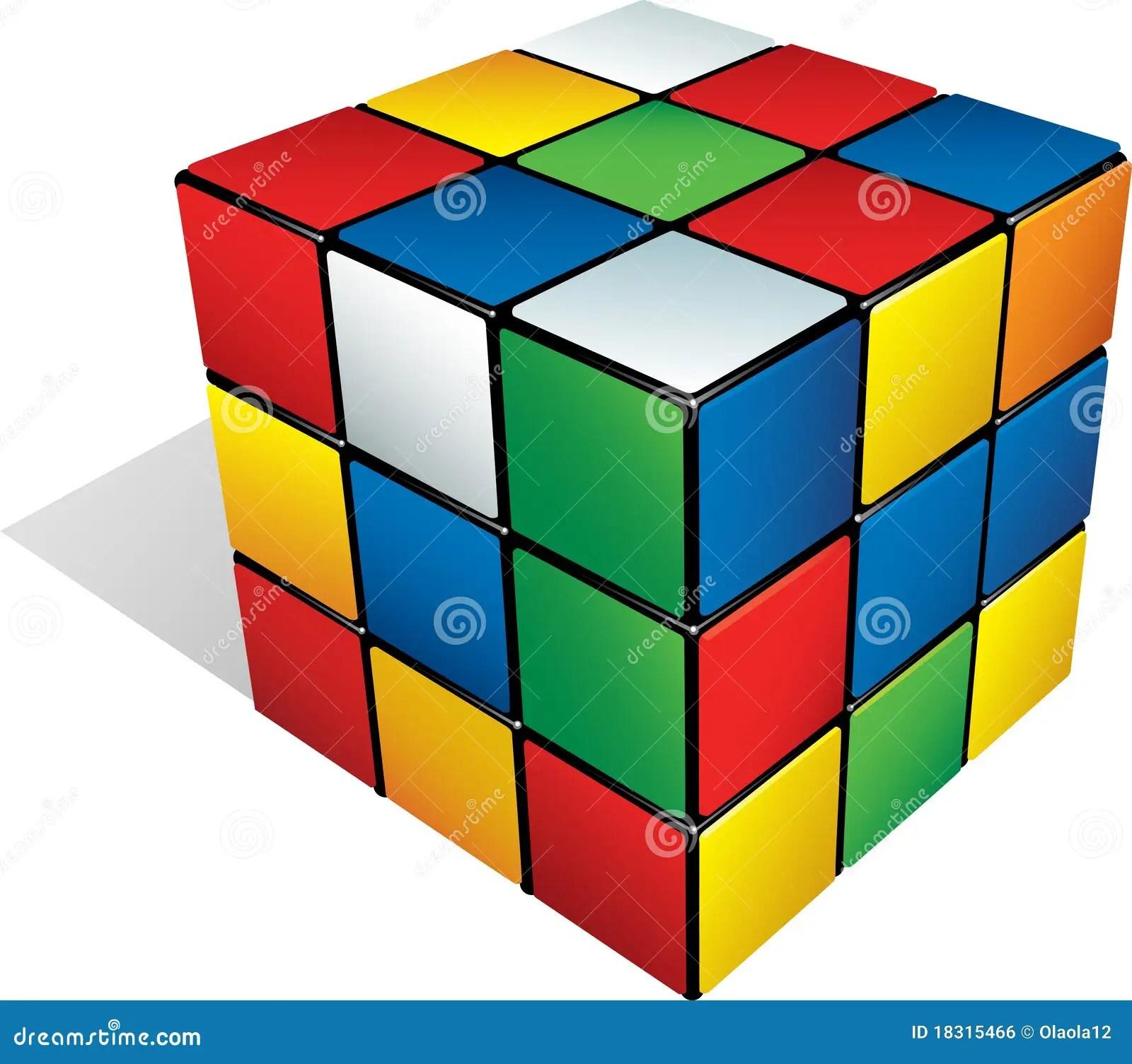 Cubo 3d Multicolore Fotografia Editoriale Illustrazione
