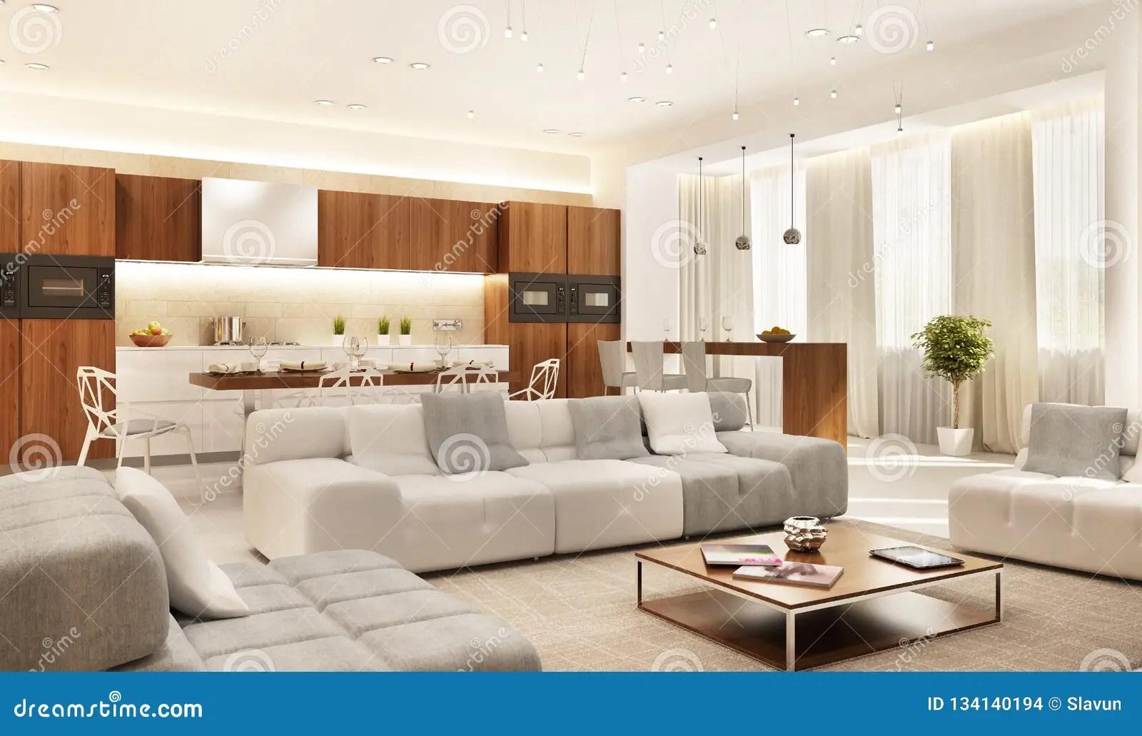 https fr dreamstime com cuisine moderne grand salon image134140194