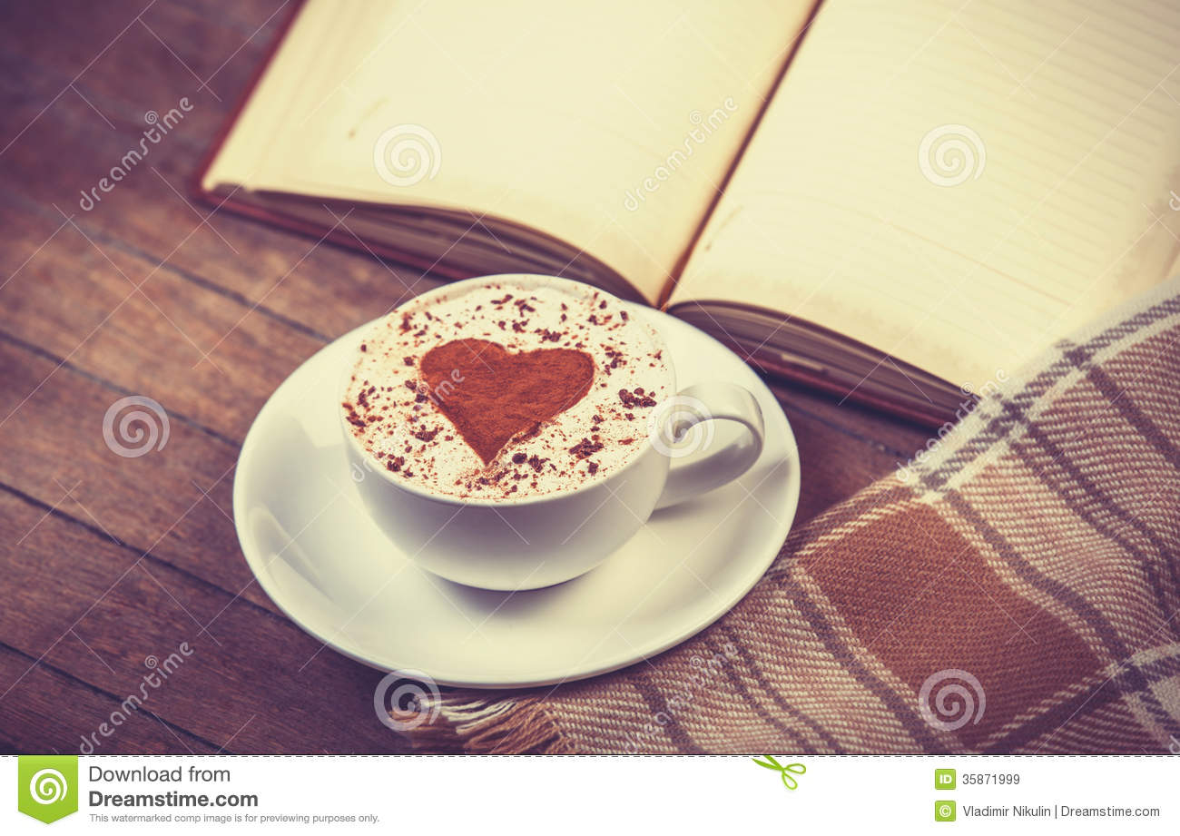Cup Of Coffee And Book Stock Image Image Of Coffee