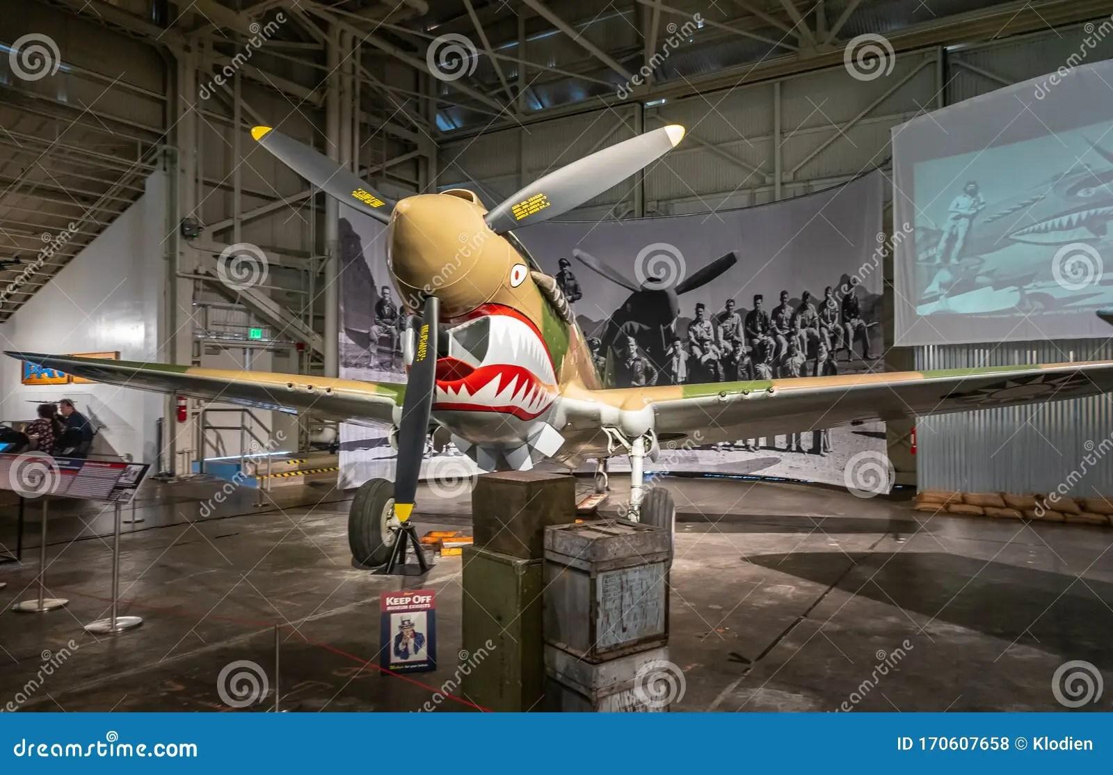 Curtiss P 40e Warhawk Aircraft In Pearl Harbor Aviation