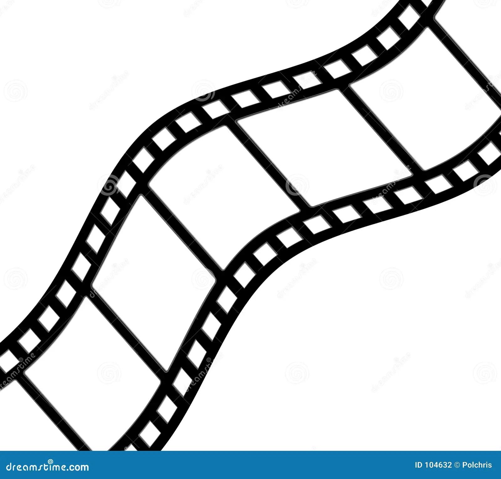 Curved Filmstrip Stock Illustration Image Of Filmstrip