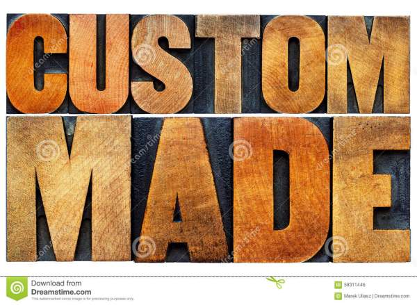 Custom Made Word Abstract Typography Stock Photo - Image ...